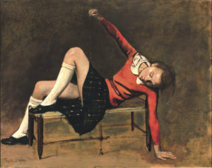 Thérèse on a Bench Seat