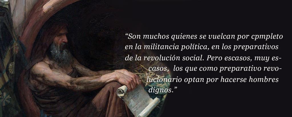 Autor: JW Waterhouse Obra: Diógenes Intervención digital de Daniel Aguilar.