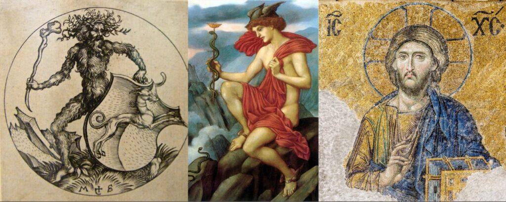 Hombre salvaje, Hermes y Cristo