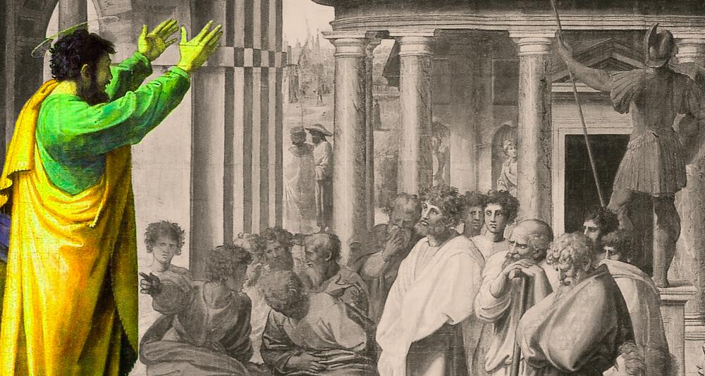 Paulo pregonando en el areópago